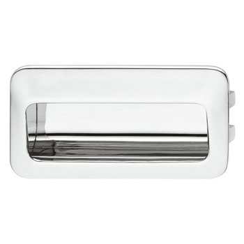 Hafele (4-2/5'' W) Mortise Recessed Handle in Polished Chrome, 110mm W x 13mm D x 56mm H