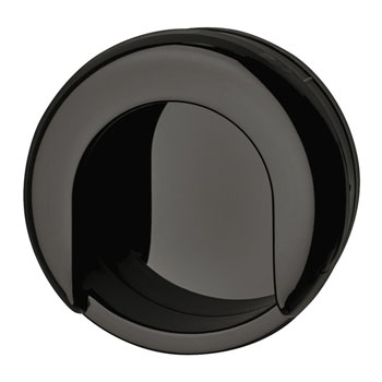 Hafele Hewi Collection Recess Pull in Jet Black, 75mm W x 13mm D x 70mm H