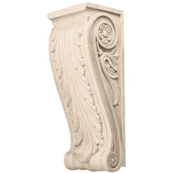 Hafele Acanthus Collection Corbel Hand Carved Acanthus Design, 13-1/2'' H