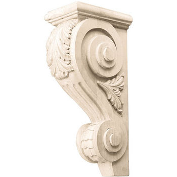 Hafele Acanthus Collection Corbel Hand Carved Acanthus Design, 12'' H