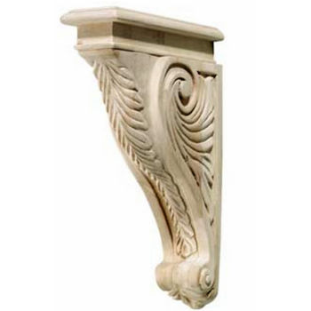Hafele Acanthus Collection Corbel, 2'' W x 9-3/16'' D x 13'' H