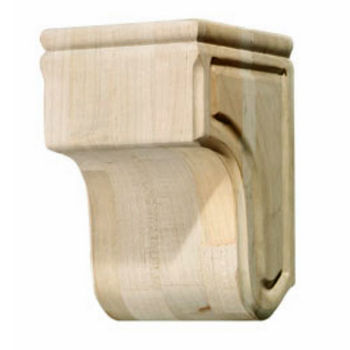 Hafele Wood Corbel Collection, Plain, 5-11/16'' W x 5-15/16'' D x 8-15/16'' H