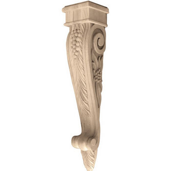 Hafele Bordeaux Collection Corbel, Grape, 5-1/4'' W x 5-1/4'' D x 24'' H