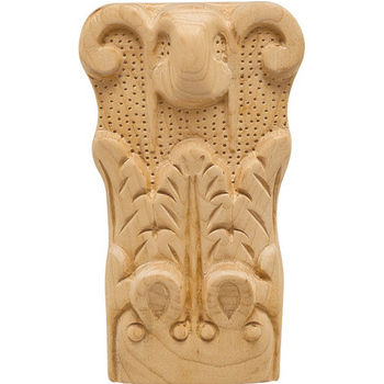 Hafele Acanthus Collection Onlay Ornament, Carved, 2-7/8'' W x 1-9/16'' D x 5'' H, Maple
