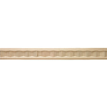 Hafele Arcadian Collection Hand Carved Moulding, 96'' W x 3/4'' D x 2'' H