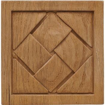 Hafele Cottage Collection Onlay, Hand Carved, Basket Weave, Oak