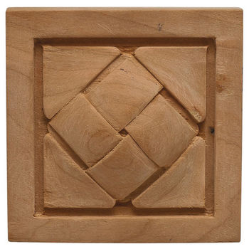 Hafele Cottage Collection Onlay, Hand Carved, Basket Weave, Cherry