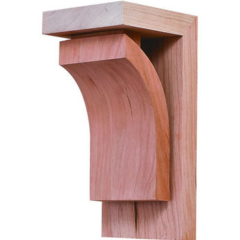 "Hafele Prairie Collection Corbel, Cherry, 2-7/8""W x 3""D x 6""H"