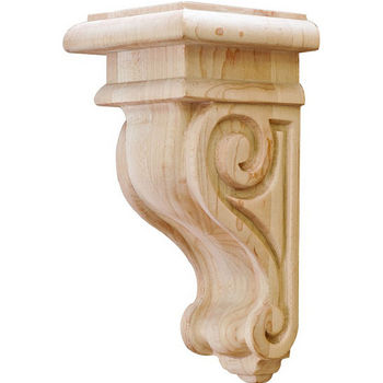"Hafele Scroll Collection Corbel, Maple, 2-7/8""W x 3""D x 6""H"