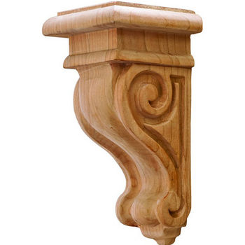 "Hafele Scroll Collection Corbel, Cherry, 2-7/8""W x 3""D x 6""H"