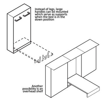 Hafele Foldaway Bed Fittings Hardware Kit - Lengthwise Mounting