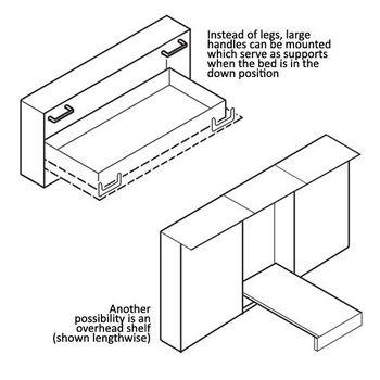 Hafele Foldaway Bed Fittings Hardware Kit - Widthwise Mounting