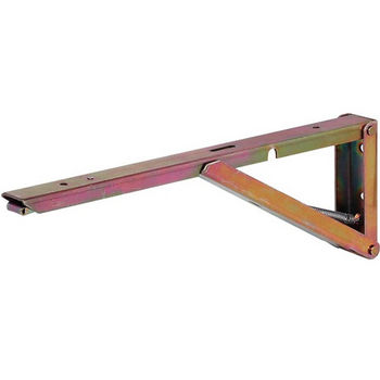 Hafele Hinged Spring Bracket, 250mm - 380mm D, Stainless Steel or Yellow Chromated, Each