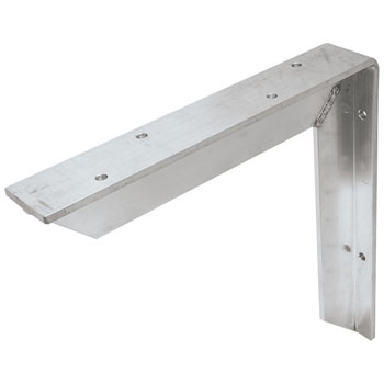 Hafele Counter Support Bracket, Aluminum, Unfinished