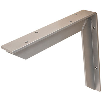 Hafele Counter Support Bracket, Aluminum, Powder Chrome