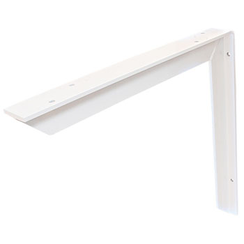 Hafele Counter Support Bracket, Aluminum, Powder White