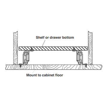 Minimum Drawer Height  Description Accurides   Full Extension Top Or Bottom Mounted Drawer Slide