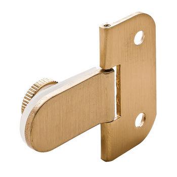 Hafele 180° Glass Door Hinge in Brass Matt, 50mm (2'') H