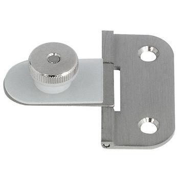 Hafele 180° Glass Door Hinge in Nickel Plated Matt, 50mm (2'') H