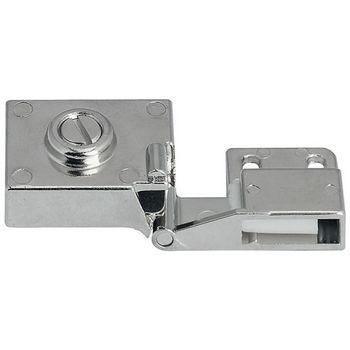 Hafele 180° All Metal Inset Glass Door Hinge in Textured Chrome Plated Matt, 40mm (1-5/8'') W