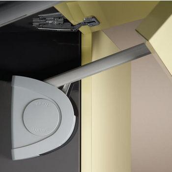Hafele Lift-Up Fitting - Senso, Soft & Silent Closing, Matt Chrome & Silver