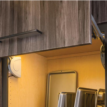 Hafele Lift-Up Fitting - Strato, Soft & Silent Closing, Matt Chrome & Silver