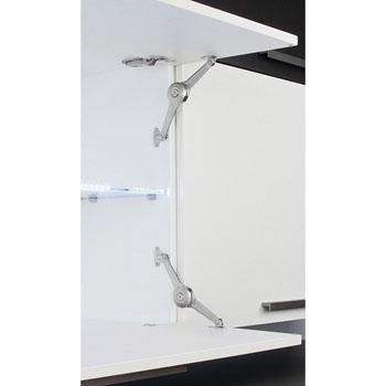 Hafele Duo Standard Lift-Up Fitting Lid/Flap Stay Set, Nickel