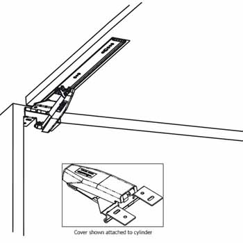 Hafele Accuride Easy-Down Flipper Door Slide Fitting, Black