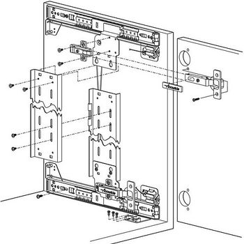 Hafele Pocket Door System - Accuride CB1332 – with 35 mm hinges