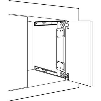 Hafele Pocket Door System - Accuride CB123/1234, Steel, Black