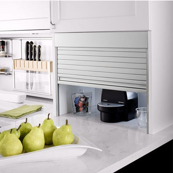 Hafele Backsplash Storage System, Appliance Garages and Kitchen Rails