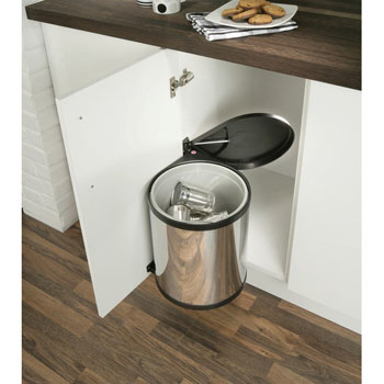 Hafele Built-In Waste Bin for Swing Out Behind Door