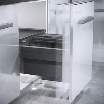 Hafele Libero 2.0 Door Opener, for Waste Bins, Plastic, Light Gray