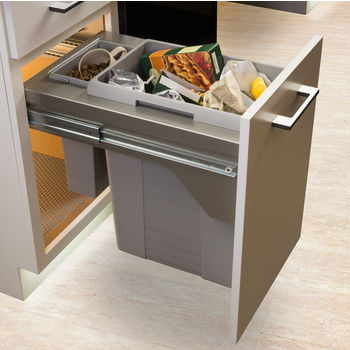 Hafele US Cargo Double Waste Bin Pull-Out