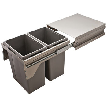 Hafele Pull Out Kitchen Cabinet Top Mounted Waste & Recycling Bins