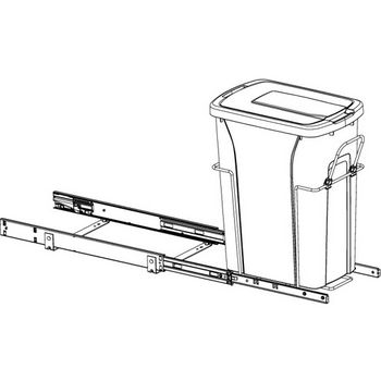 Hafele Bottom Mount Soft Close Single Waste Bin