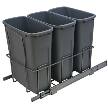 Hafele Triple Bottom Mount Soft Close Waste Bin