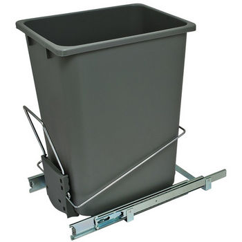 Hafele Bottom Mount Wire Single Waste Bin, Gray, 36 Quart (9 Gallon)