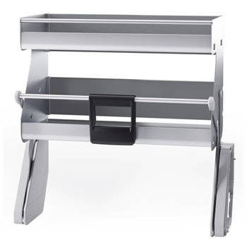 Hafele iMove Pull Down Unit, Double Shelf, Silver/Gray