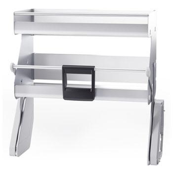 Hafele iMove Pull Down Unit, Double Shelf, Silver/White