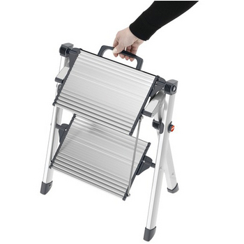 Incredible Hailo Mini Comfort Folding Step Stool By Hafele Silver And Ibusinesslaw Wood Chair Design Ideas Ibusinesslaworg