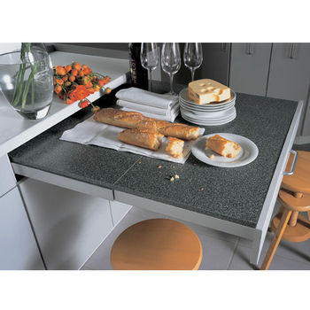 Hafele Steel Top Flex Pull Out Kitchen Table System Ings Min Cab Opening 17 3 4 35 1 2 W X 20 D H