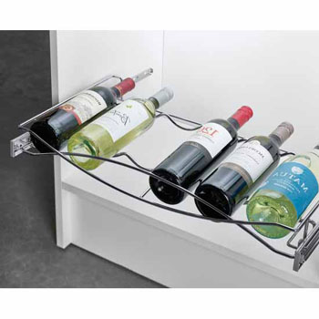 Hafele Pull-out Wine Tray, with Full Extension Slides, Chrome