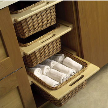 pantry pullout shelves and baskets view and reach items
