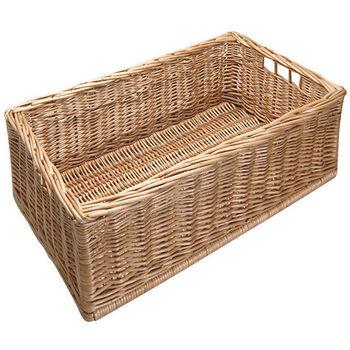 Moveable Wicker Storage Basket