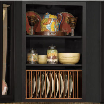 Hafele Wooden Plate Rack For Kitchen Cabinet In Maple Or Cherry