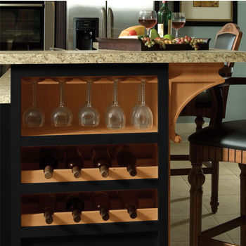 Wooden Stemware Rack For Wine Glasses In Maple Or Cherry