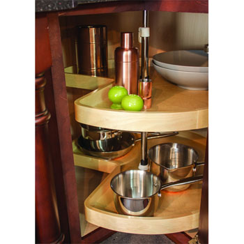 Hafele Kidney Shape Maple 2-Shelf Lazy Susan