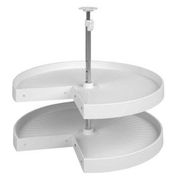 Pie Cut Shelf Set Corner System