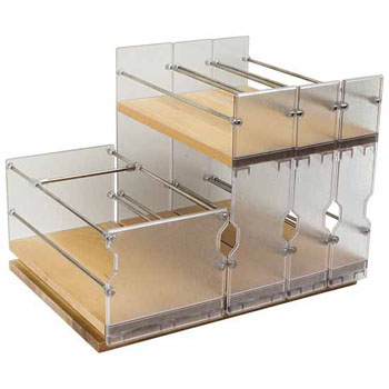 Hafele Pull-Out Spice Rack, Birch, for Face Frame Cabinets